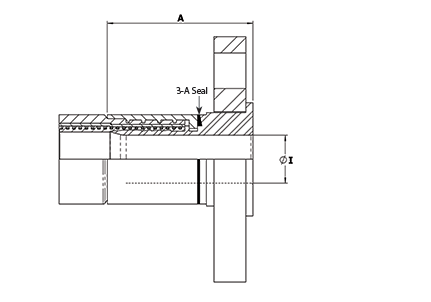3-A Non-Lined Swivel Flange