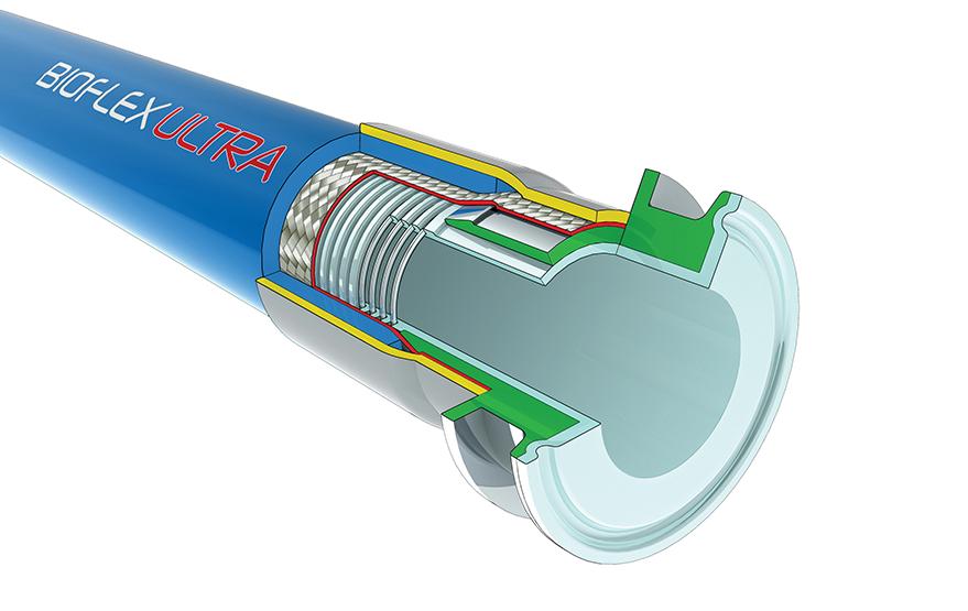 Flexible Pipe For Bladder Lining : Aflex hose bioflex ultra ptfe lined flexible