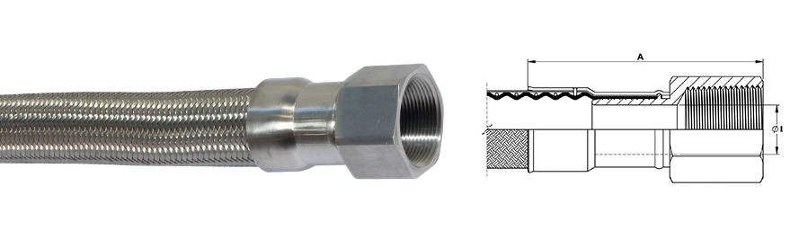 Aflex hose npt and bspt fittings